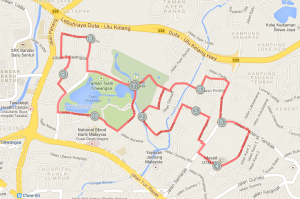 10 km  corse map