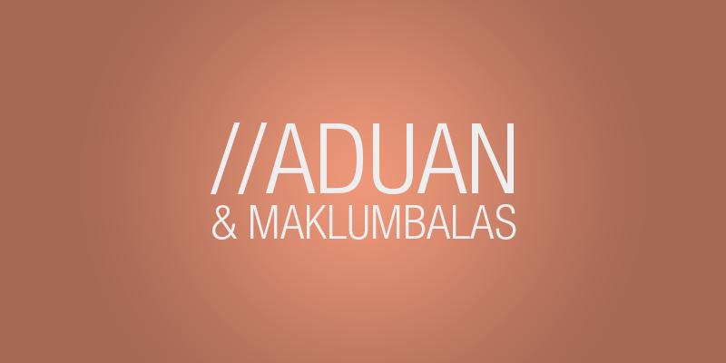 Aduan & Maklumbalas