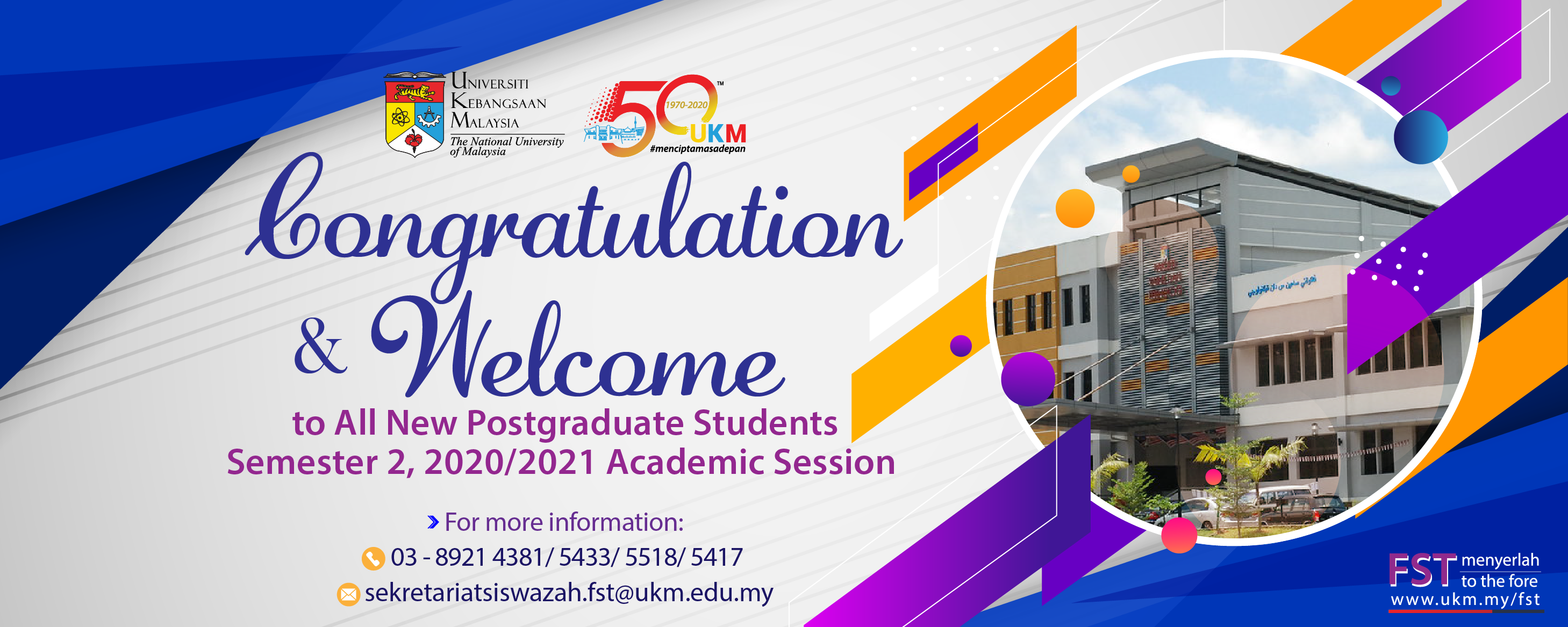 Welcome New Postgraduate Students