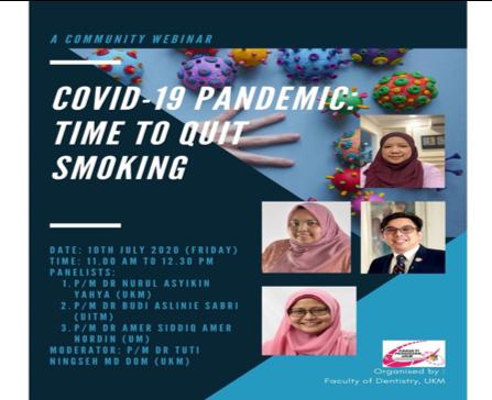 "Webinar ""Covid-19 Pandemic: Time to Quit Smoking"" – 10 Jul 2020"