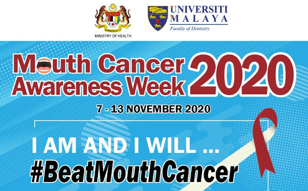 Mouth Cancer Awareness Week 2020 (MCAW) 7-13 Nov 2020