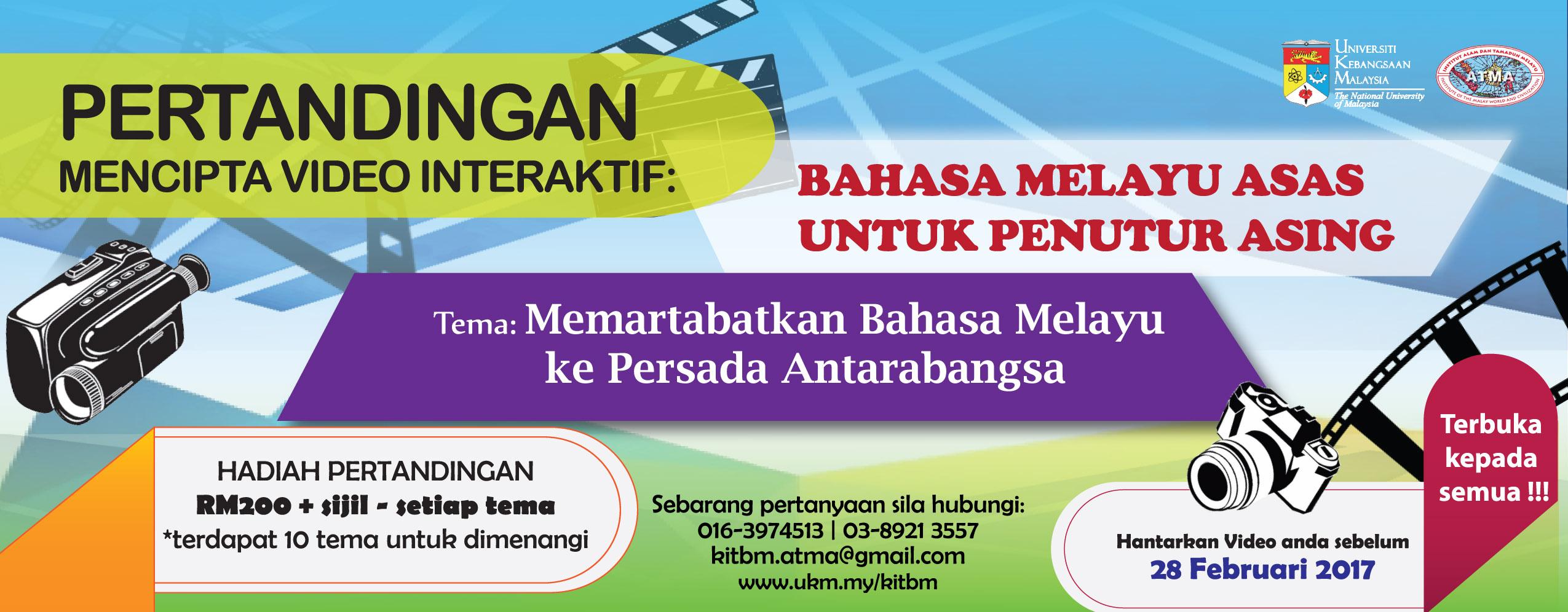Pertandingan Mencipta Video Interaktif Bahasa Melayu Asas Untuk Penutur Asing
