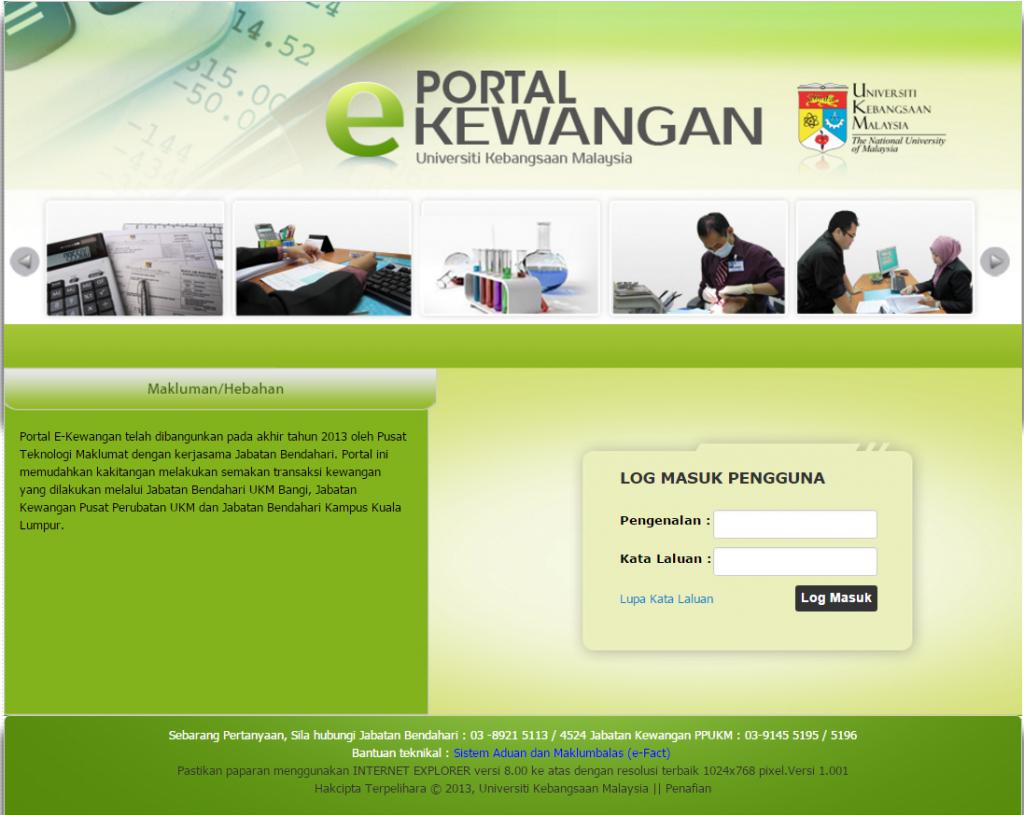 Portal E Kewangan Jabatan Bendahari
