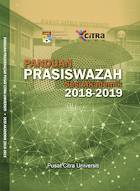 BUKU PANDUAN PRASISWAZAH PUSAT CITRA UNIVERSITI SESI AKADEMIK 2018-2019