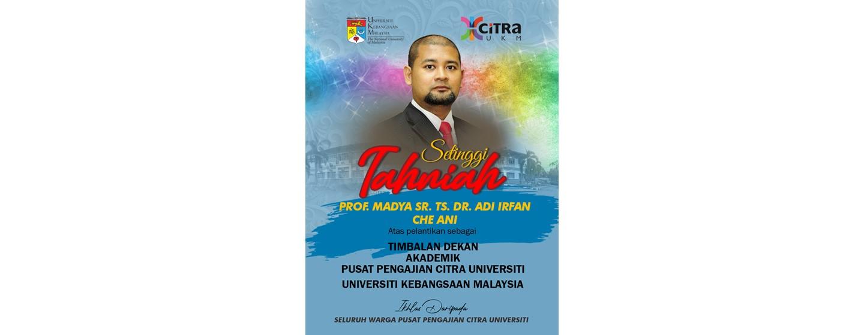 Tahniah Dr Adi