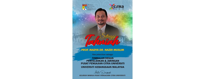 Tahniah Dr Nazri