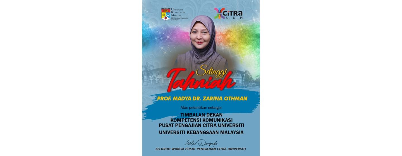 Tahniah Dr Zarina