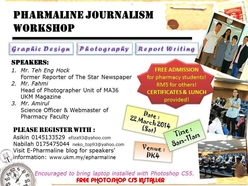 Journalism Workshop Is Coming Pharmaline Magazine