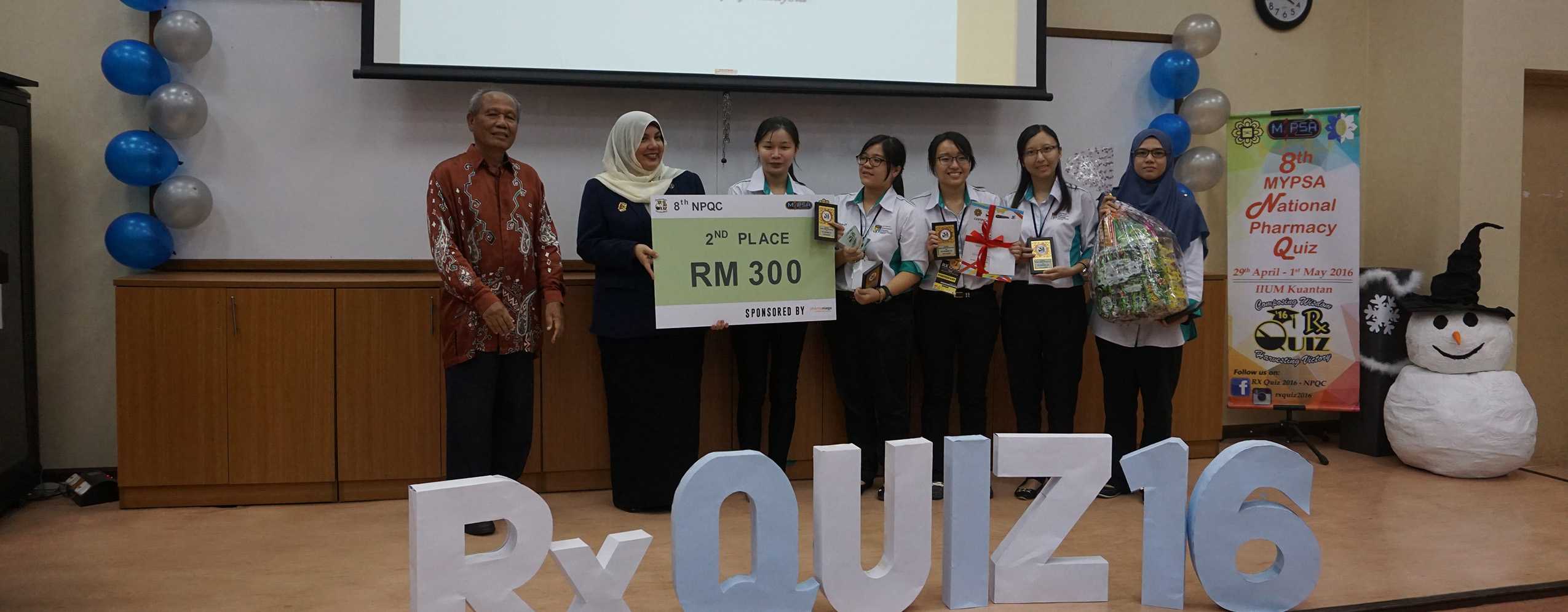 2nd place in 8th Rx Quiz 2016