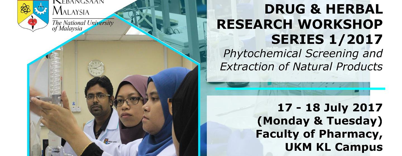 Drug & Herbal Research Workshop Series 1/2017