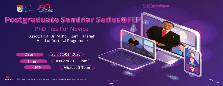 Postgraduate Seminar Series@FEP