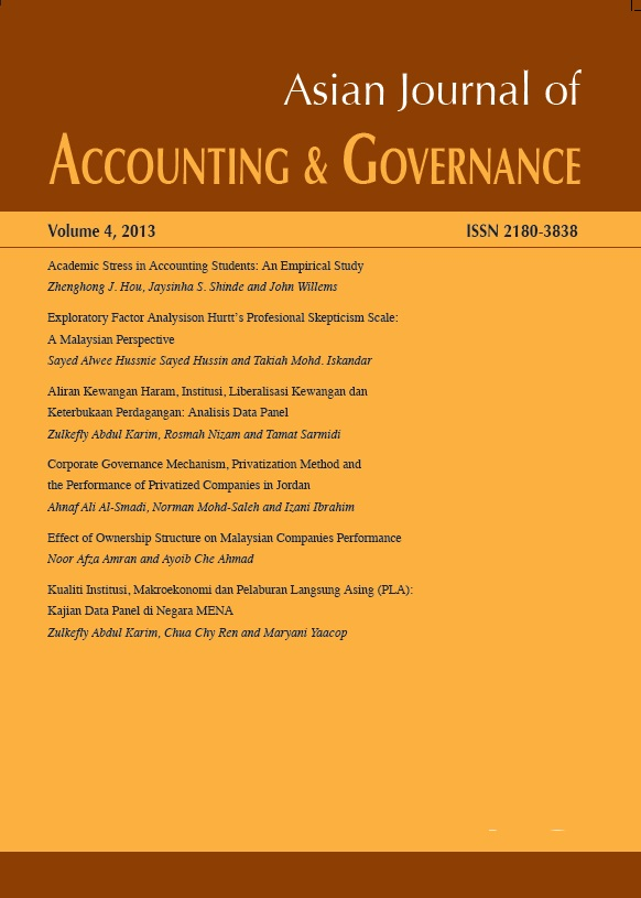 Asian Journal of Accounting and Governance
