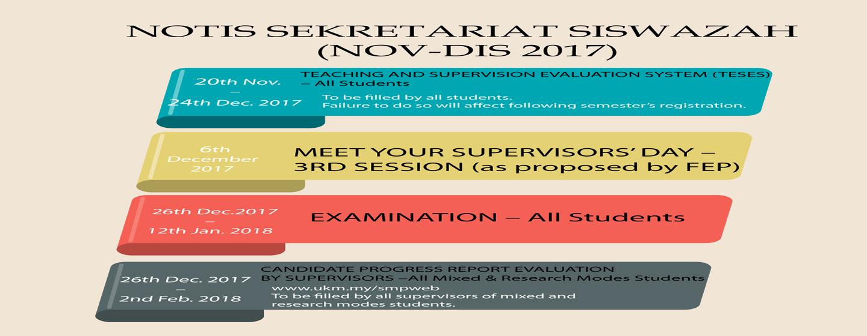 NOTIS SEKRETARIAT SISWAZAH (NOV-DIS 2017)