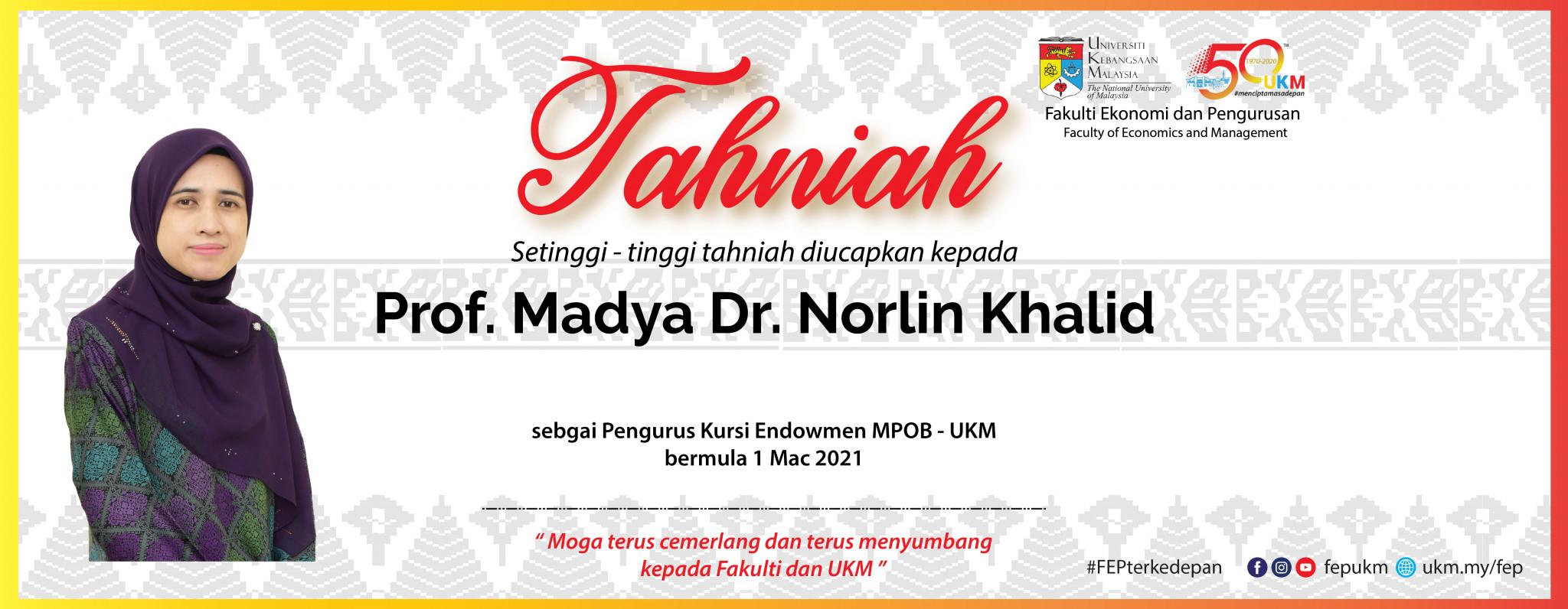 Tahniah Dr Norlin