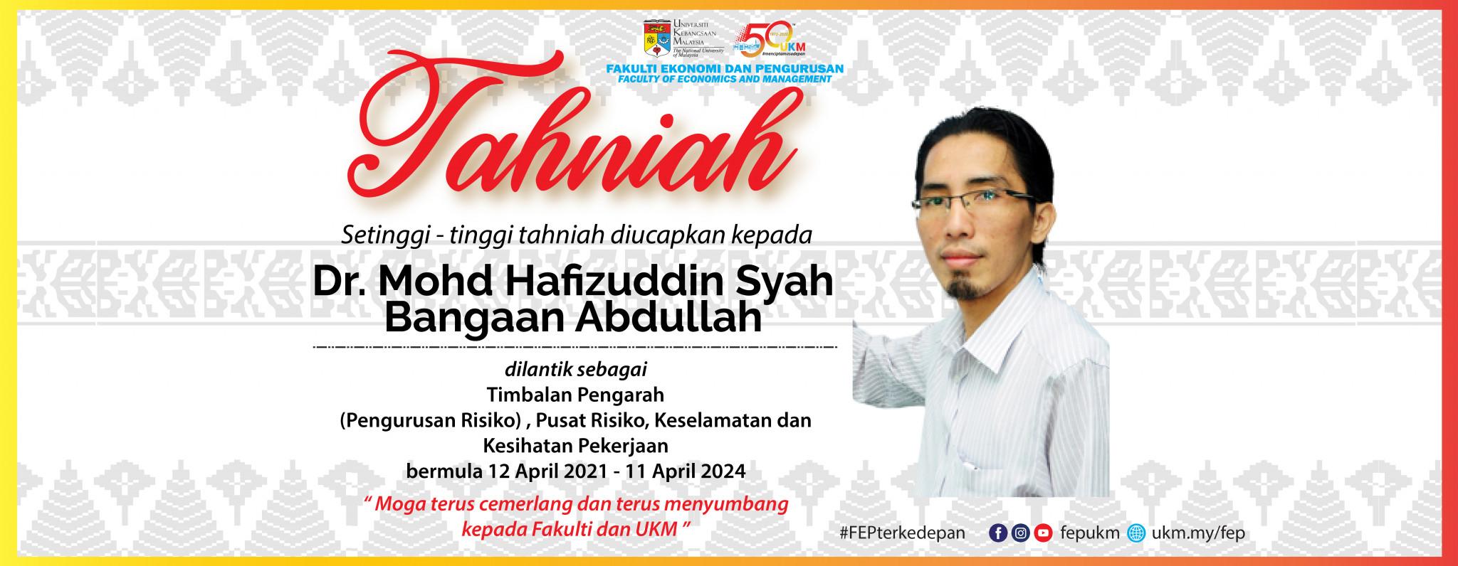 Tahniah Dr. Hafiz