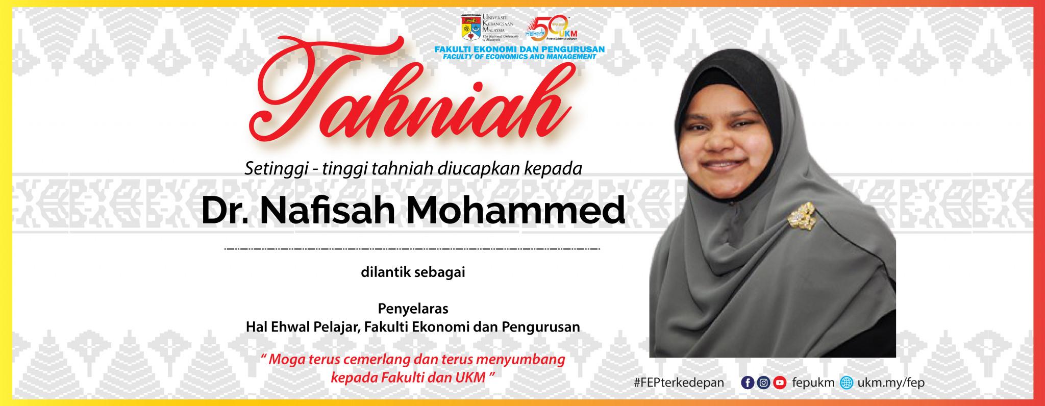 Tahniah Dr. Nafisah