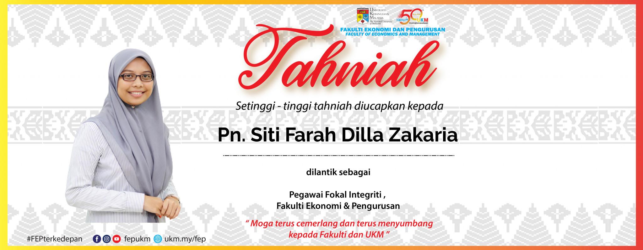 Tahniah Farah Dilla