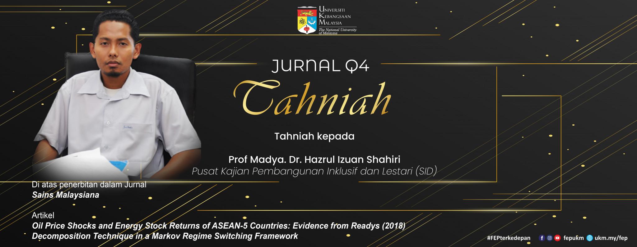 Tahniah Jurnal Q1