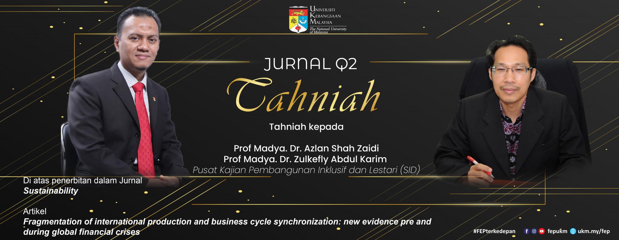 Tahniah Jurnal Q2