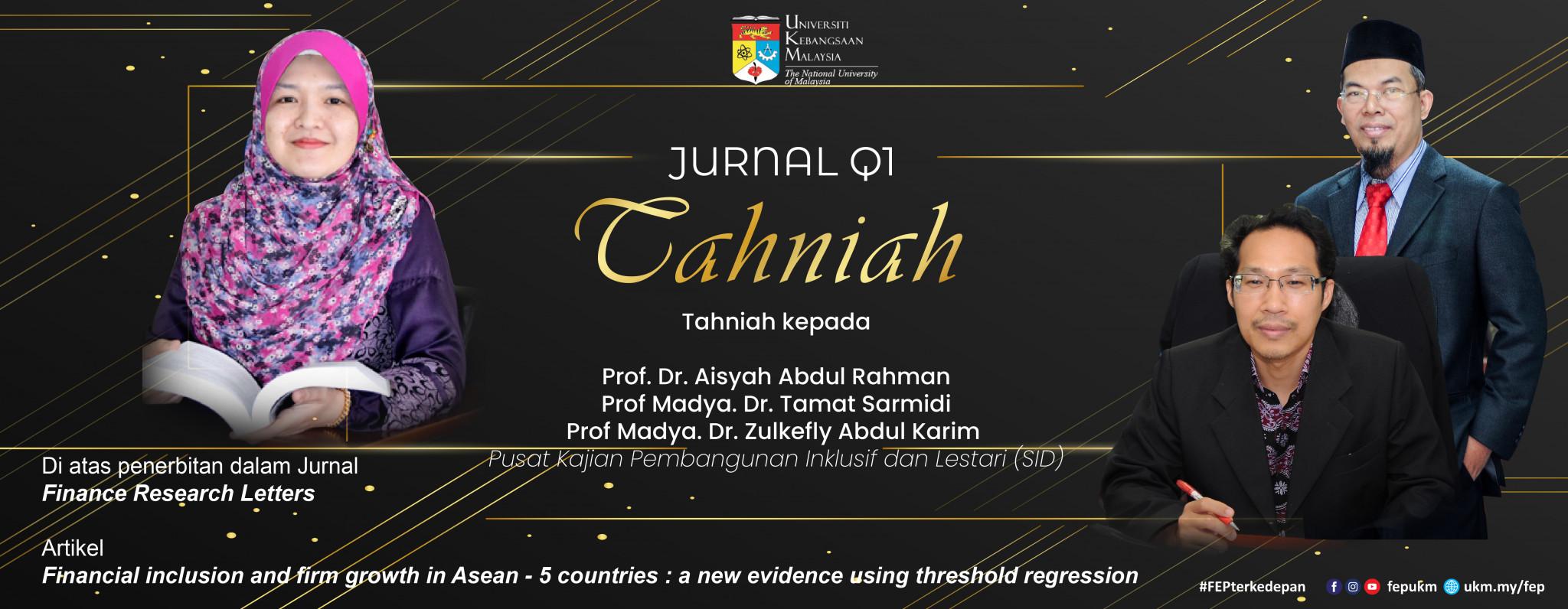 Tahniah Jurnal Q3