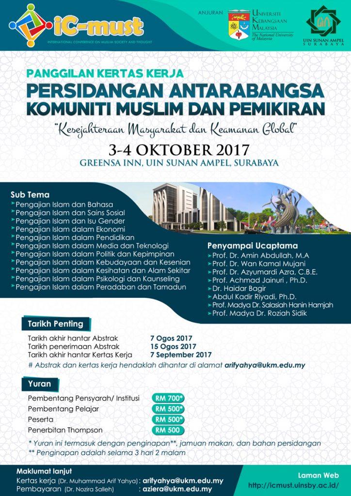 Persidangan Antarabangsa Komuniti Muslim dan Pemikiran @ UIN Sunan Ampel, Surabaya | Surabaya | East Java | Indonesia