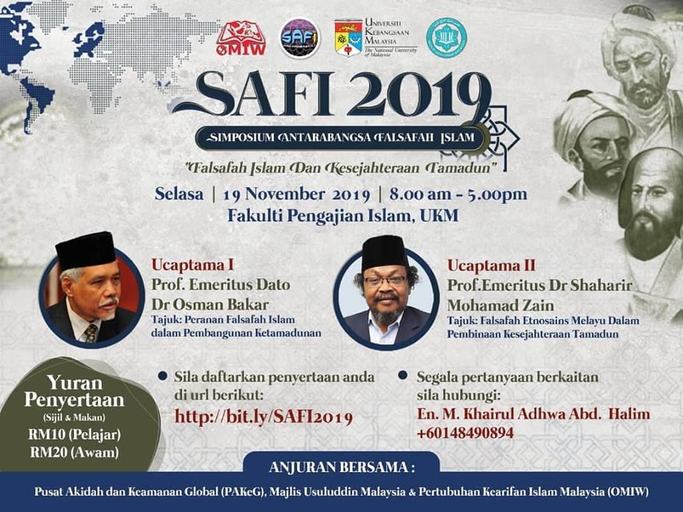 Simposium Antarabangsa Falsafah Islam: Falsafah Islam dan Kesejahteraan Tamadun @ Fakulti Pengajian Islam