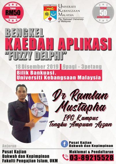 "Bengkel Kaedah Aplikasi ""Fuzzy Deplhy"" @ Bilik Bankuasi, Bangunan Canselori"