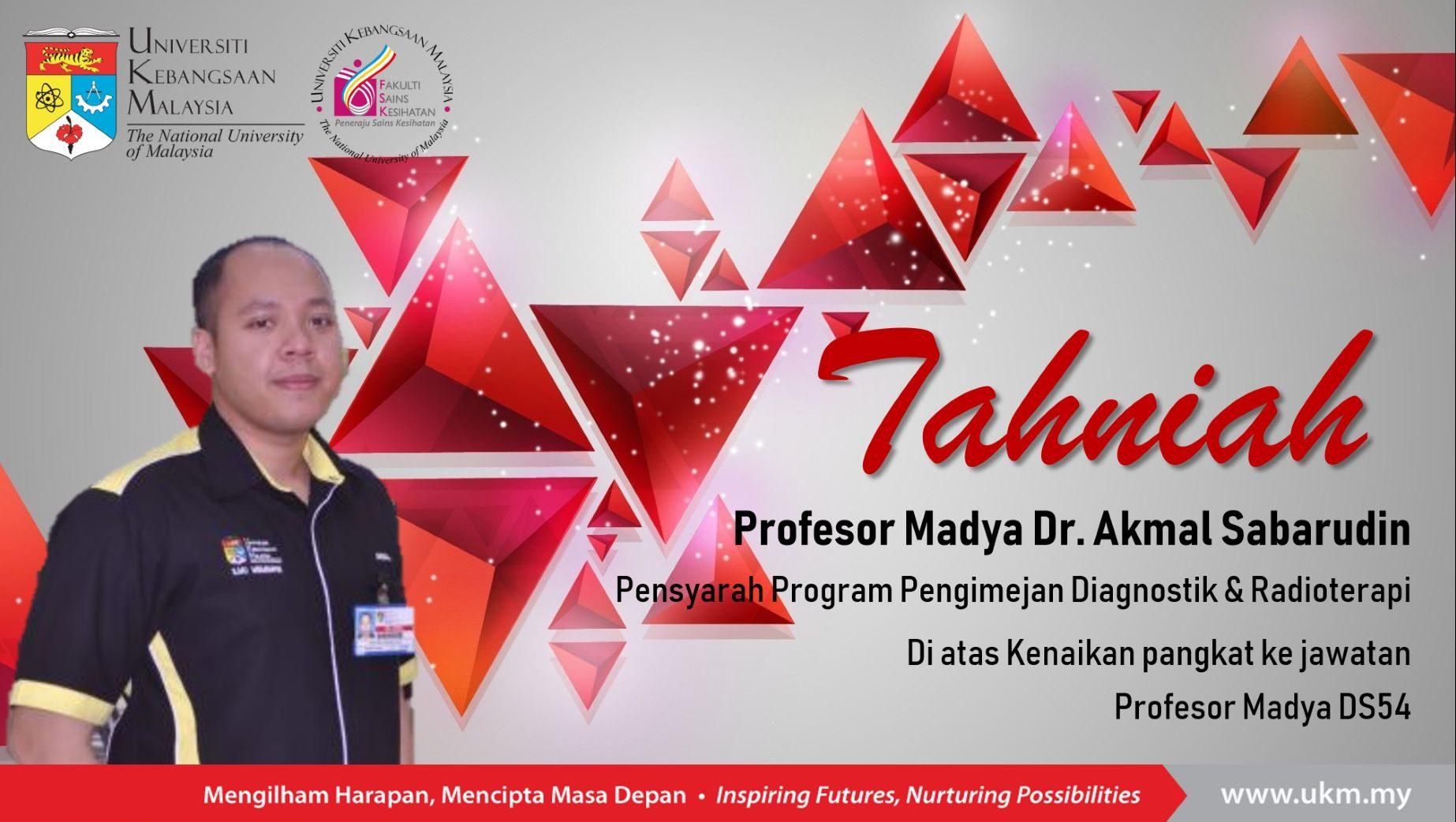 Ucapan Tahniah Kenaikan Pangkat Ke Jawatan Profesor Madya Ds54 Fakulti Sains Kesihatan