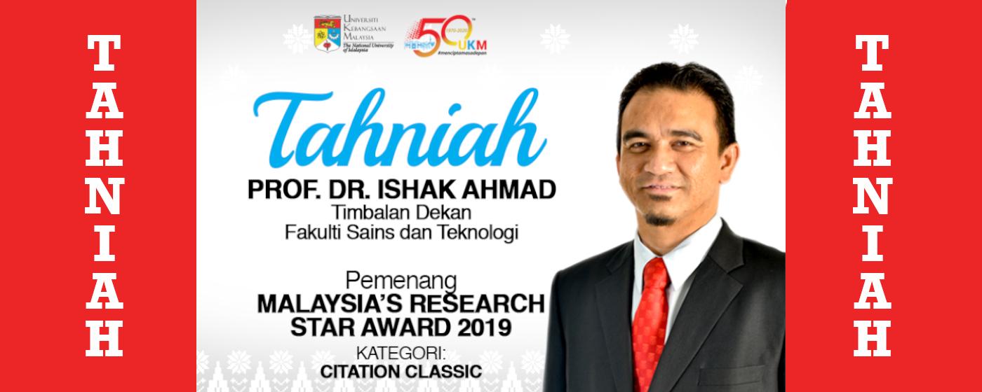 Tahniah prof ishak ahmad malaysia star award
