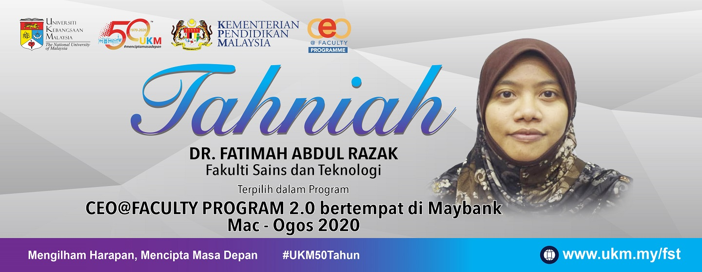 Tahniah dr fatimah