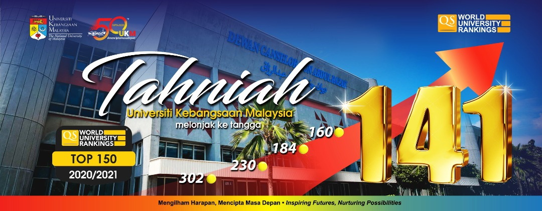 Tahniah UKM – QS World University Rankings 2020/2021