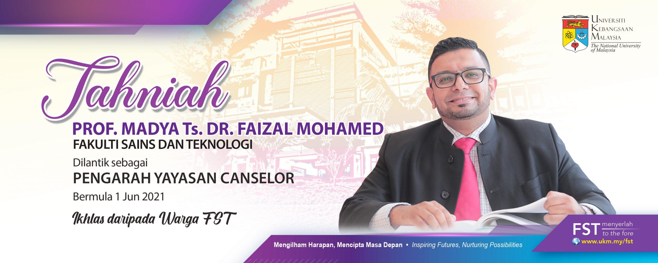 Tahniah Dr. Faizal – Yayasan Canselor