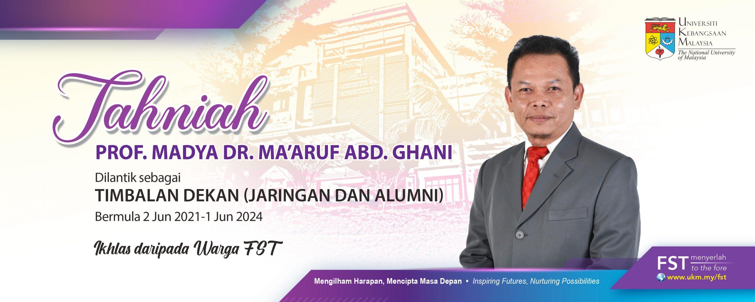 Tahniah Dr Ma'aruf