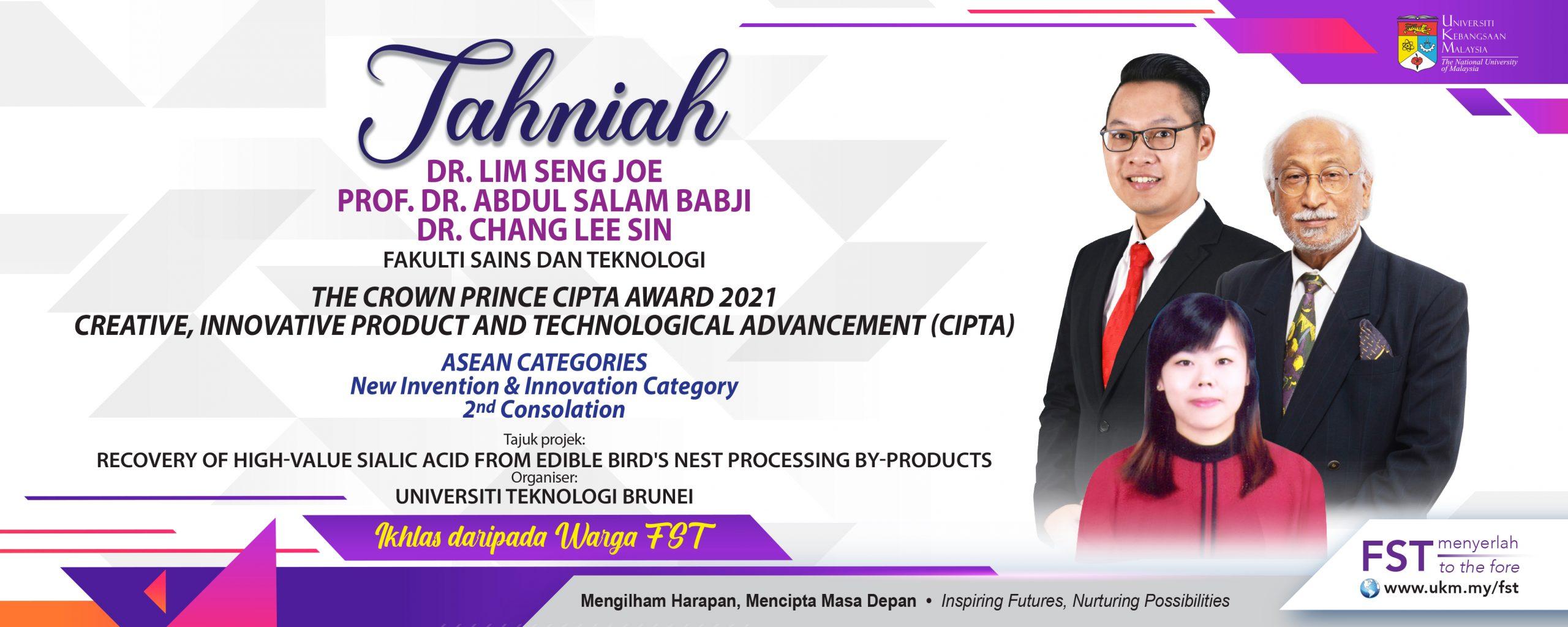 Tahniah The Crown Prince CIPTA award