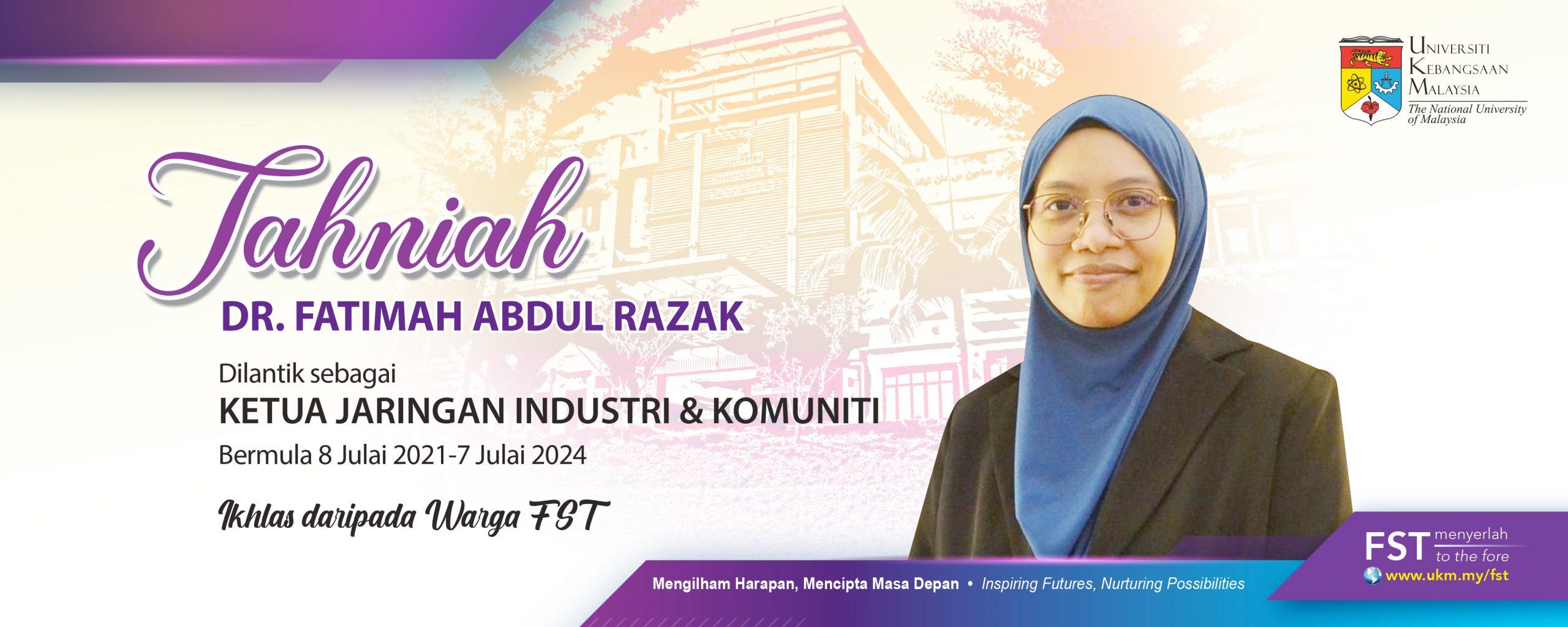 Tahniah Dr. Fatimah