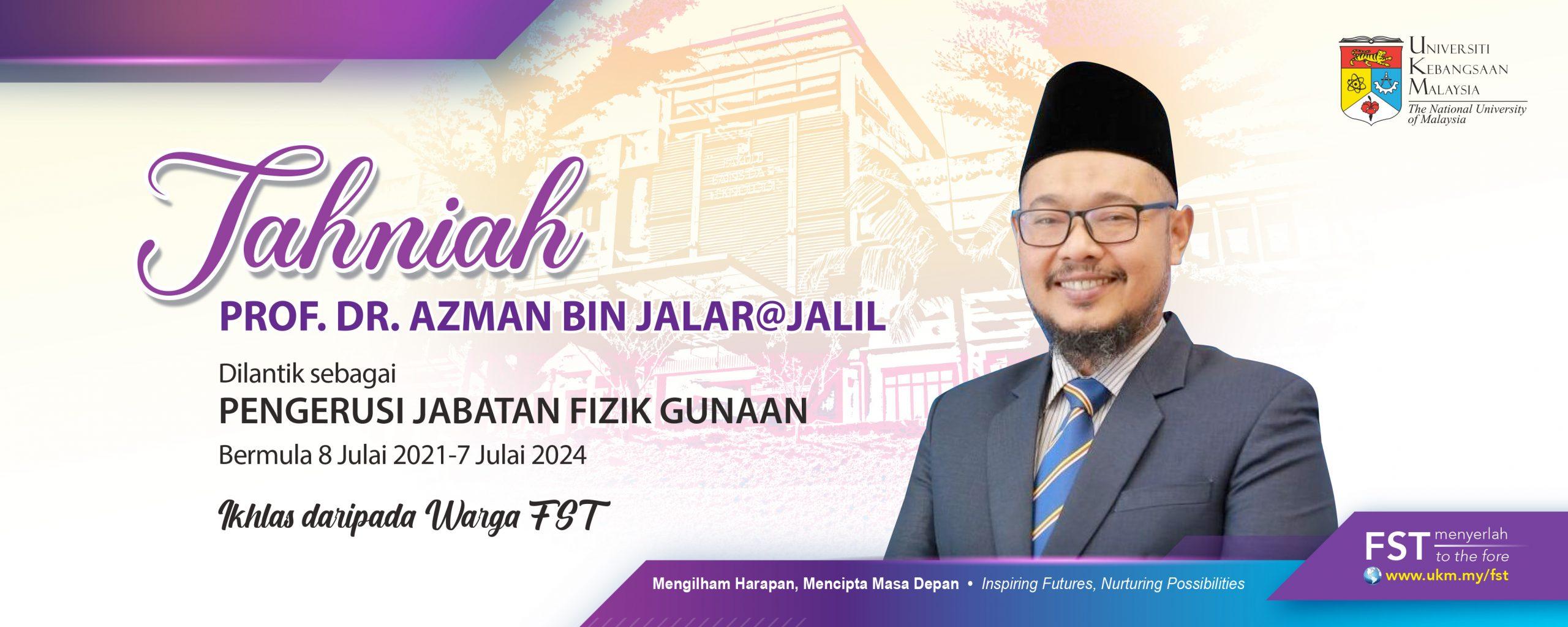 Tahniah Prof Azman