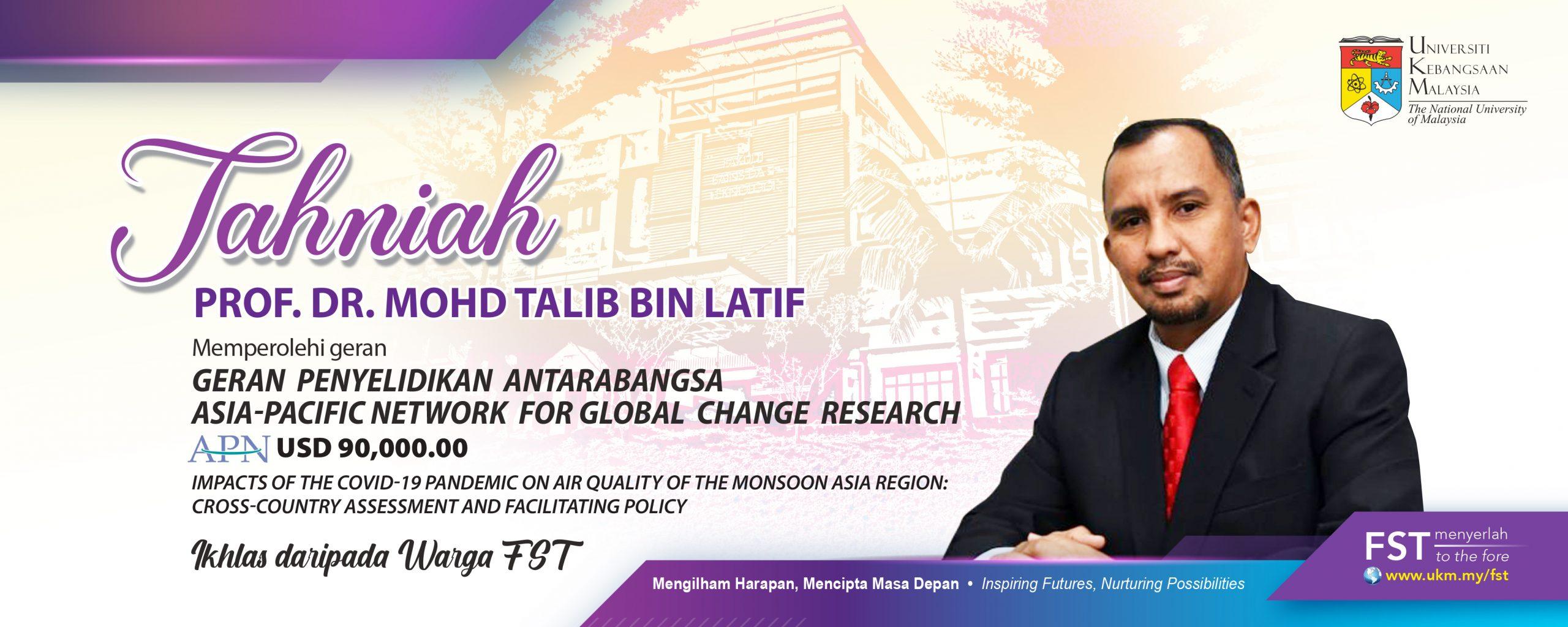 Tahniah Prof. Dr. Talib