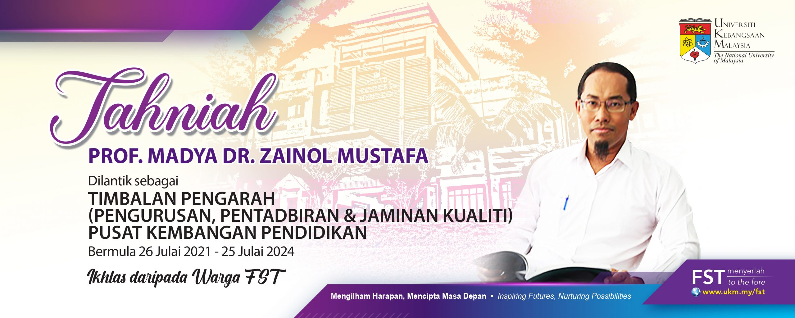 Tahniah Prof Dr Zainol