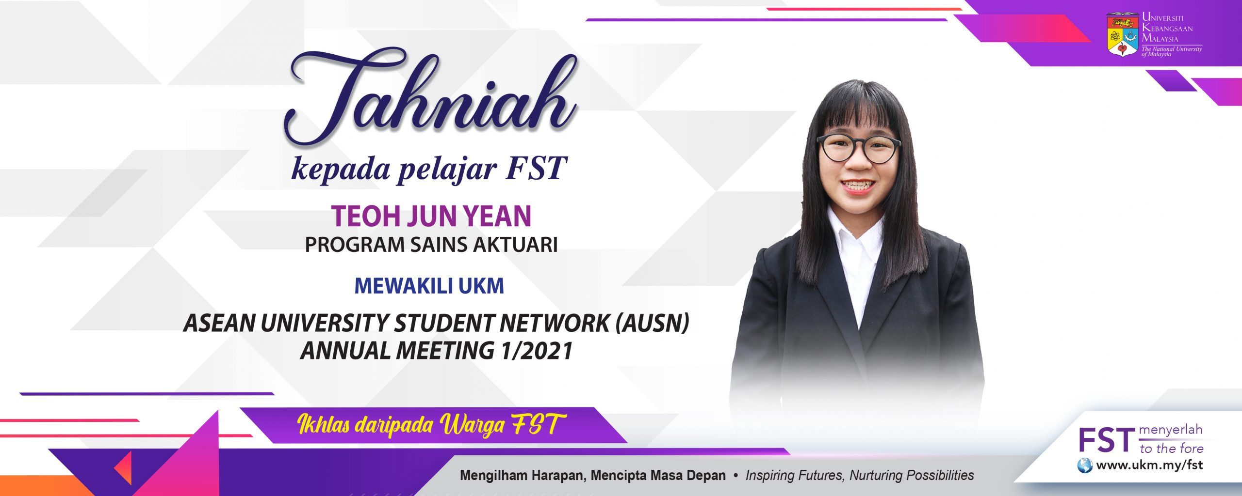 Tahniah Pelajar FST Mewakili UKM Asean University