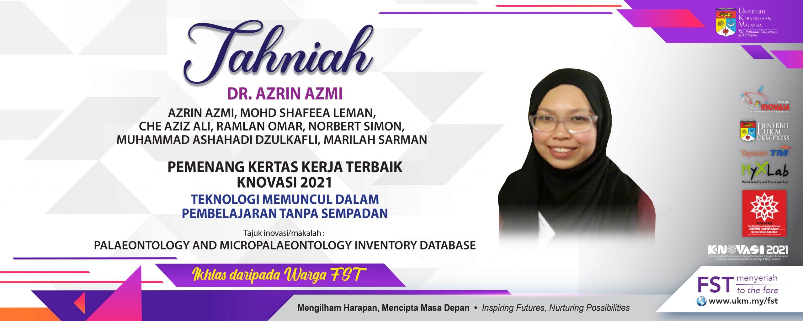 Tahniah Dr. Azrin