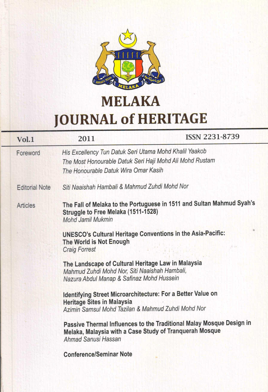 melaka journal 2011