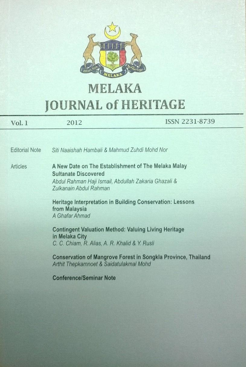 melaka journal 2012