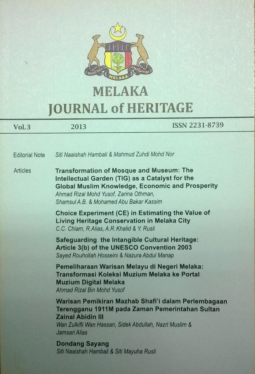 melaka journal 2013