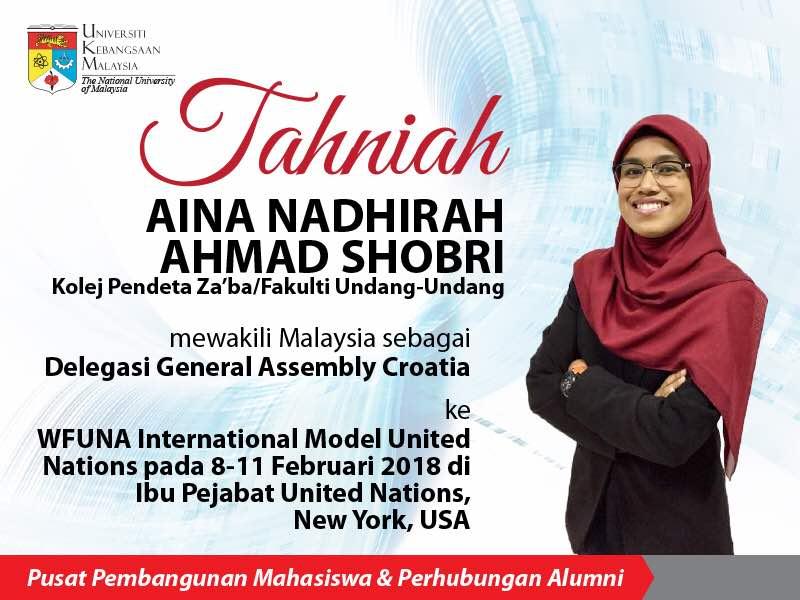 Tahniah Aina Nadhirah