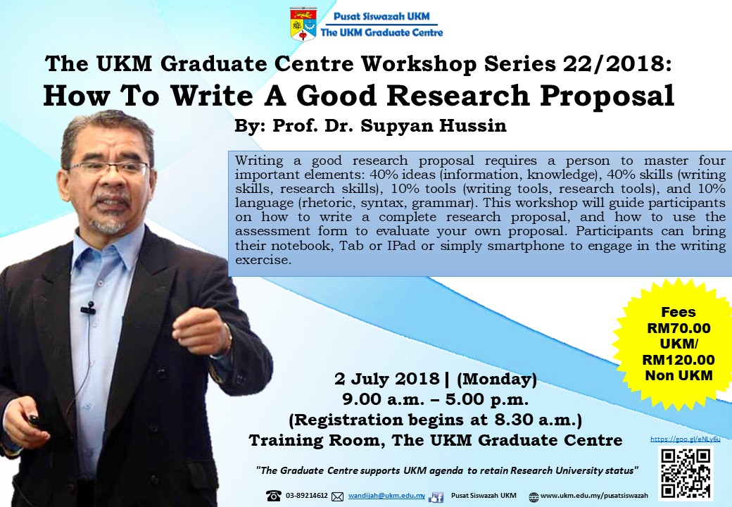 Workshop on Writing a Good Research Proposal – Faculty of Law
