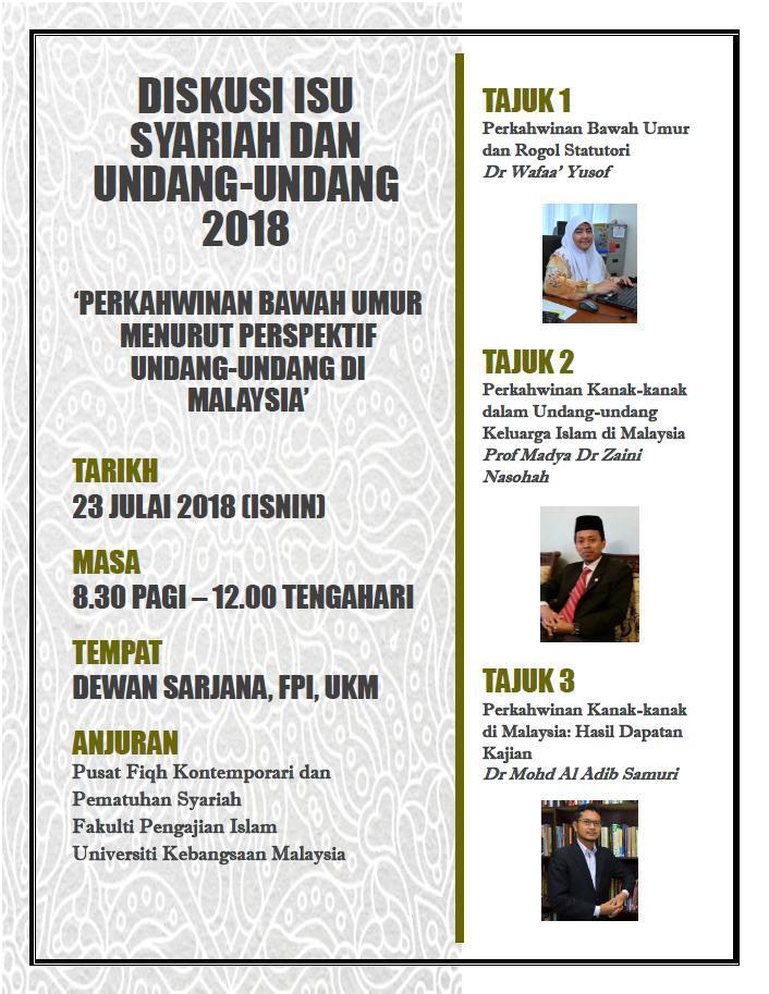 Diskusi Isu Syariah & Undang-Undang 2018