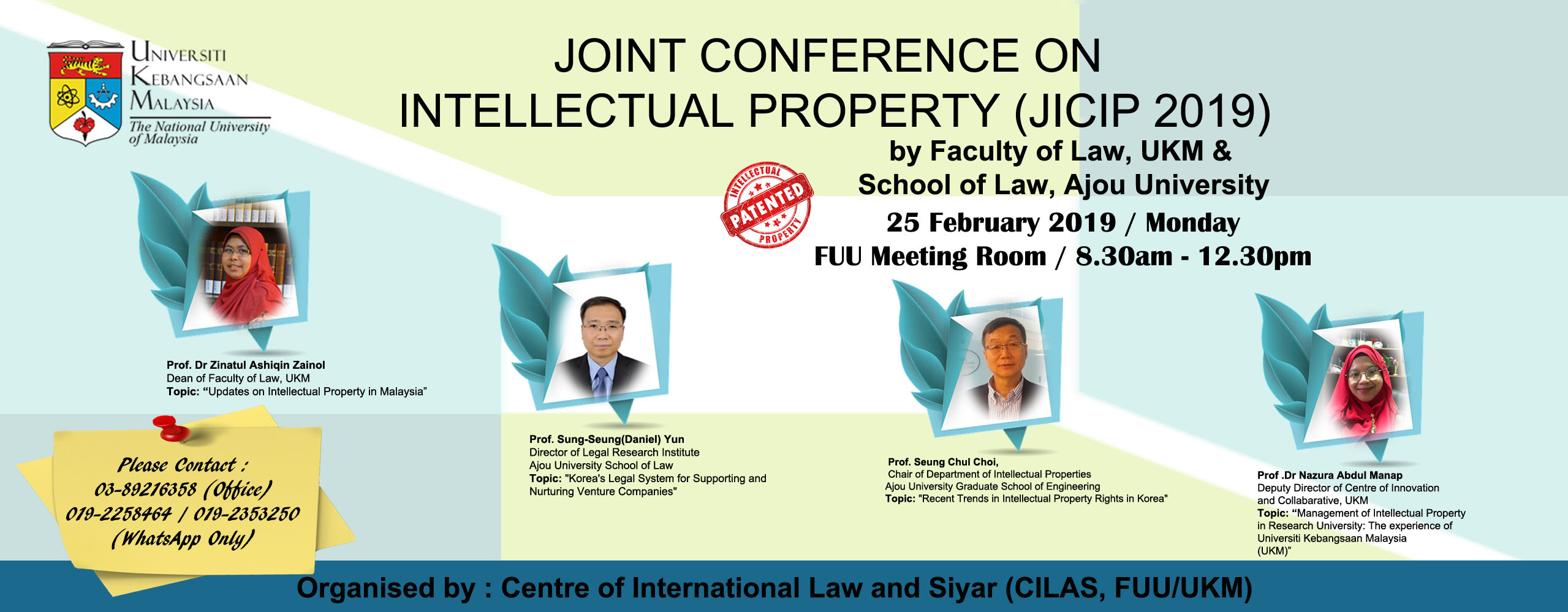 Joint International Conference on Intellectual Property JISIP2019