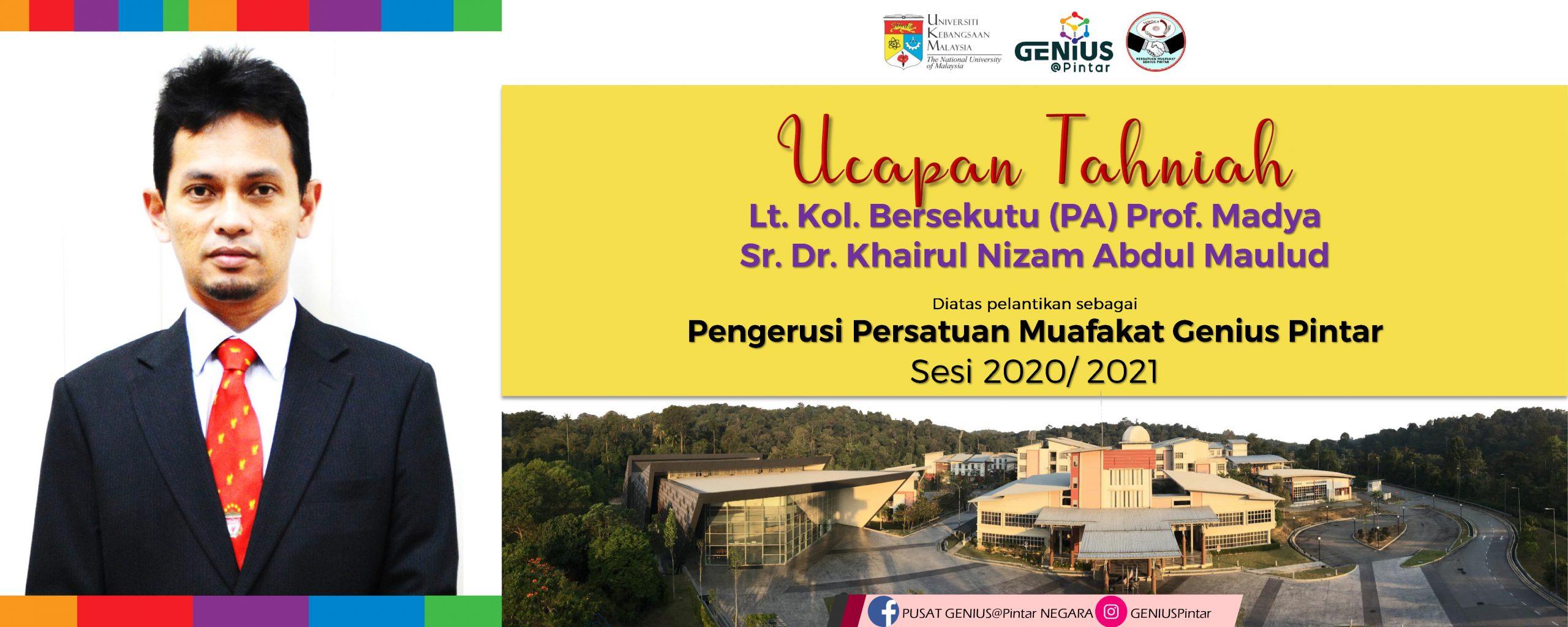 Pengerusi Persatuan Muafakat Genius Pintar Sesi 2020/ 2021