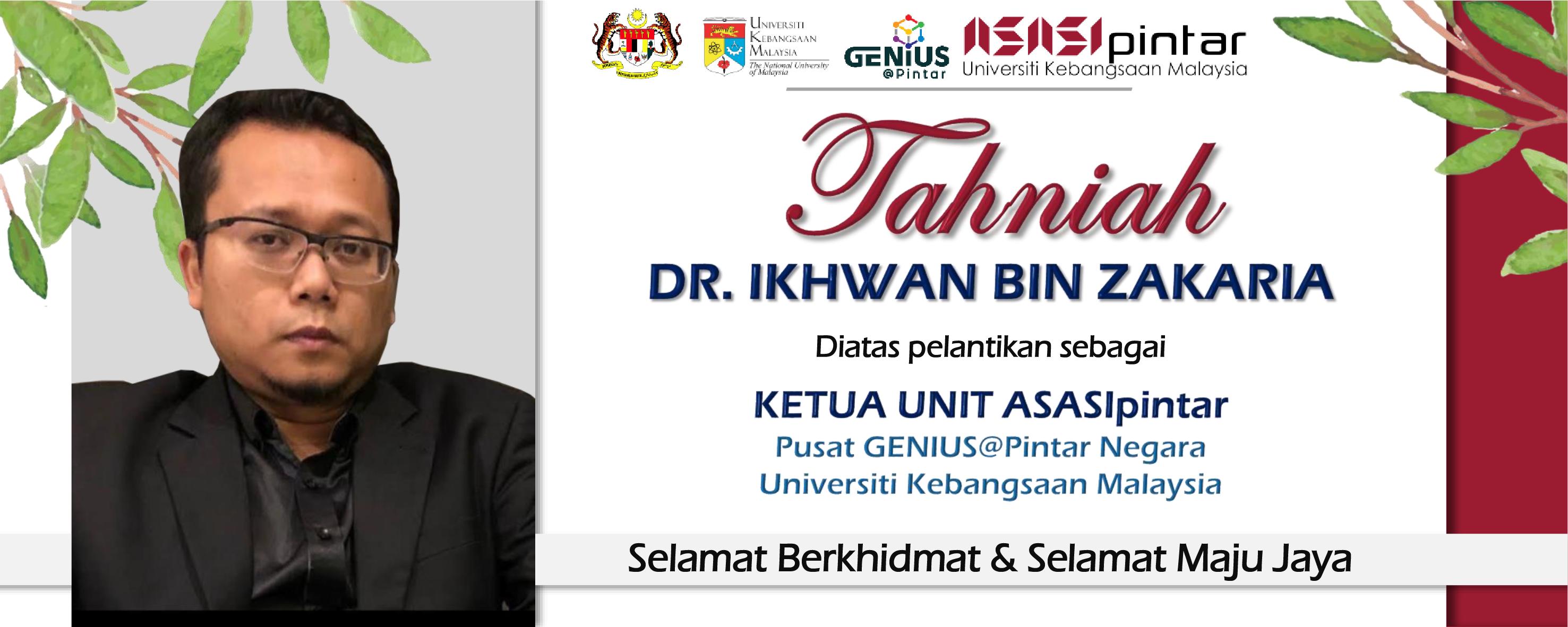 Tahniah Dr. Ikhwan Zakaria