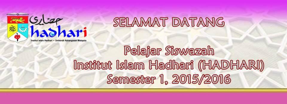 Selamat Datang Pelajar Siswazah sem1 2015/2016